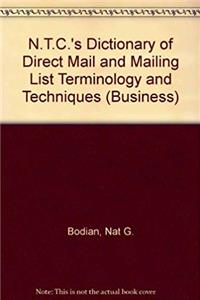 e-Book Ntc's Dictionary of Direct Mail and Mailing List Terminology and Techniques (Business) download