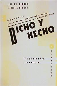 e-Book Dicho y Hecho, Workbook: Beginning Spanish download