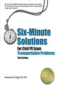 e-Book Six-Minute Solutions for Civil PE Exam Transportation Problems download