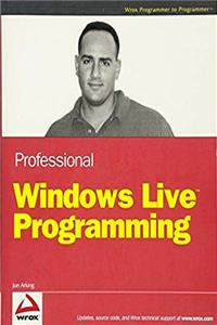e-Book Professional Windows Live Programming (Programmer to Programmer) download